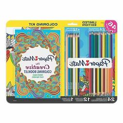Paper Mate Colored Pencil Adult Coloring Kit with Regular an