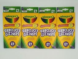 Crayola Colored Pencils 12 Pack, Lot Of 4