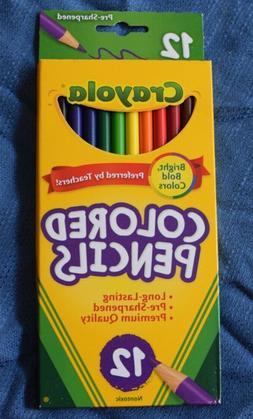 Crayola Colored Pencils 12 Pack Pre-Sharpened Non-Toxic Colo
