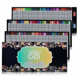 SUDEE STILE Colored Pencils 150 Unique Colors No Duplicates
