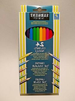 SARGENT ART Colored Pencils 24 Assorted Colors Non-Toxic 7""
