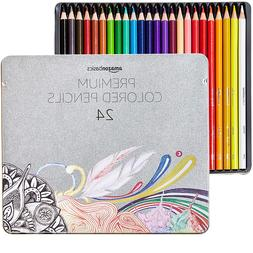AmazonBasics Colored Pencils - 24-Count 24 Colors New