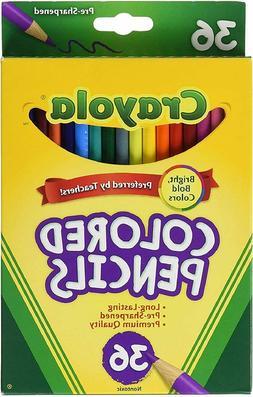 Colored Pencils, 36 Premium Quality, Long-Lasting, Pre-Sharp