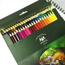 JS Colored Pencils, 48 Colors Set,Soft Core, Oil Based Leads