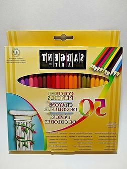 SARGENT ART Colored Pencils 50 Assorted Colors Non-Toxic 7""