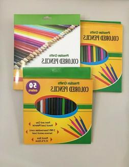 colored pencils 50 colors 3 pack total