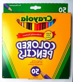 Crayola Colored Pencils 50-Count Pre-Sharpened, Assorted Col