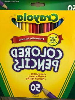 Crayola Colored Pencils Assorted Colors 50 Count Gift School