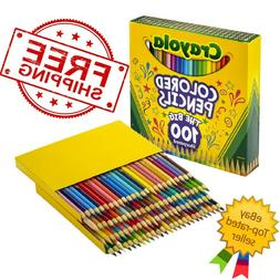 Crayola Colored Pencils, Assorted Colors, Set of 100 - FREE