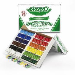 Crayola Colored Pencils,Bulk Classpack,Classroom Supplies,12