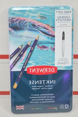 Derwent Colored Pencils Inktense Ink Drawing, Art, Metal Tin
