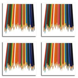 """3dRose Colored Pencils-Iron on Heat Transfer, 8 by 8"""", for W"""