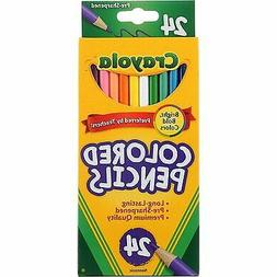 3 Pack Crayola Colored Pencils, Long, 24 Ct