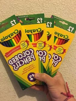 Crayola Colored Pencils Lot 4 Pack 48 Pencil 12 Colors Stock