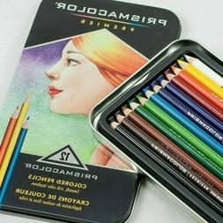 Prismacolor Colored Pencils, Metal Tin, 12 Count New BRAND N