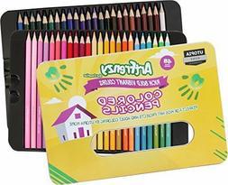 Colored Pencils - Pack of 48 - Soft Core Premier -Suitable f