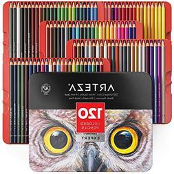 Colored Pencils Professional Set of 120 Colors Soft Wax Base
