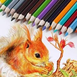 Colored Pencils, Professional Set of 48/72 Colors, Soft Wax-