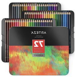 ARTEZA Colored Pencils, Professional Set of 72 Colors, Soft