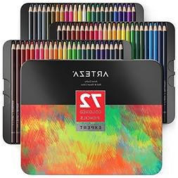 ARTEZA Colored Pencils, Professional Set of 72 Colors, Soft