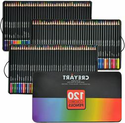 Colored Pencils Set of 120, Pre-Sharpened Nontoxic Art for K