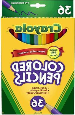 Crayola Colored Pencils Set, School Supplies, Presharpened,