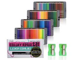 Feela 152 Colored Pencils with Pencil Sharpener Premium Soft