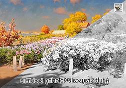 Adult Coloring Book  Country Landscapes Summer Garden Vintag
