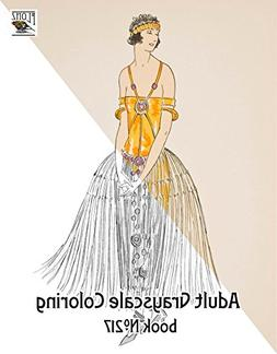 Adult Coloring Book  Fashionable Dress 3 / Vintage Fashion A