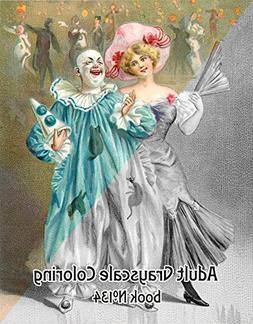 Adult Coloring Book  Vintage Clowns Carnival FLONZ Vintage D