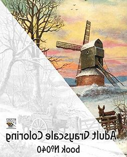 Adult Coloring Book  Winter Country Landscapes Rural Village
