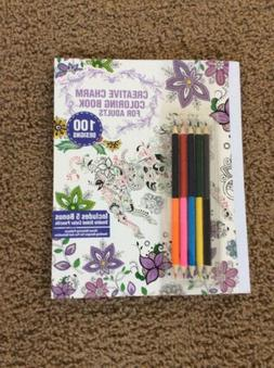 Lot of 3 Adult Creative Charm Coloring Books - Colored Penci