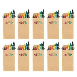eBuyGB Colouring Wax Crayons - Kids Party Bag / Loot Toy Wed