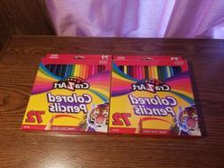 Cra-Z-Art Colored Pencils Bright Vivid Colors! 72 Count Lot