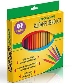 Prestige Crafts Colored Pencils, Pack of 50, Assorted Colors