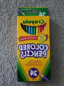 Crayola Colored Pencils 24 Count Brand New