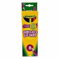 Crayola Colored Pencils Pre-Sharpened, Assorted Colors, 8 Co