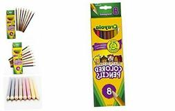 Crayola Multicultural Colored Pencils, 8 Assorted Skin Tone