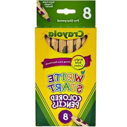 CRAYOLA BS684108   WRITE START COLORED PENCILS 8 COLOR SET