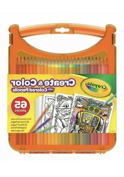 Crayola Create & Color Colored Pencils Travel Art Set 25 Pen