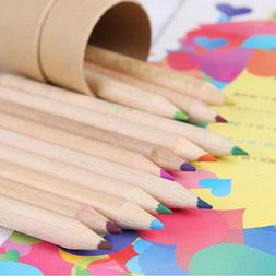 Cute 12 Colors Pencils Wooden Writing Painting Colored Penci