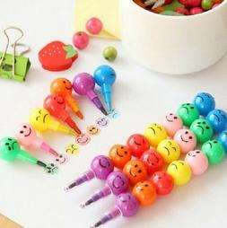 Cute Mini 7 Colors/Set Stacker Swap Cartoon Crayons Wax Penc