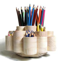 Deluxe Rotating Colored Pencil Holder Organizer, Holds 260 P
