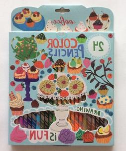 eeBoo Desserts 24 Color Pencils Colored Pencils Set Crafts A