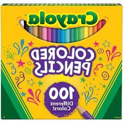 Crayola Different Colored Pencils, 100 Count, Adult Coloring