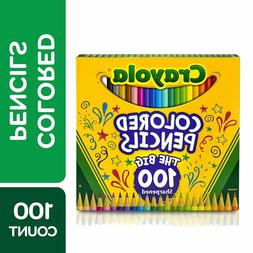 Crayola Different Colored Pencils,100 Count,Adult Coloring,L