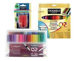 Sargent Art 22-0083 Draw & Color Art Set with Bonus Pencil S
