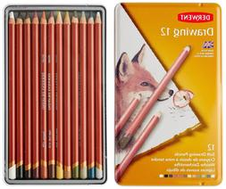 Derwent Colored Drawing Pencils, 5mm Core, Metal Tin, 12 Cou