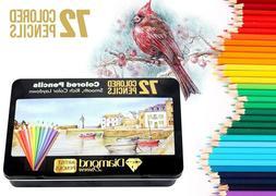 Diamond Driven #1 Artists Colored Pencils 72 Premium Soft Co