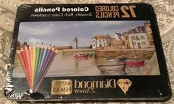 Diamond Driven 72 Colored Artist Pencils New Set Sealed
